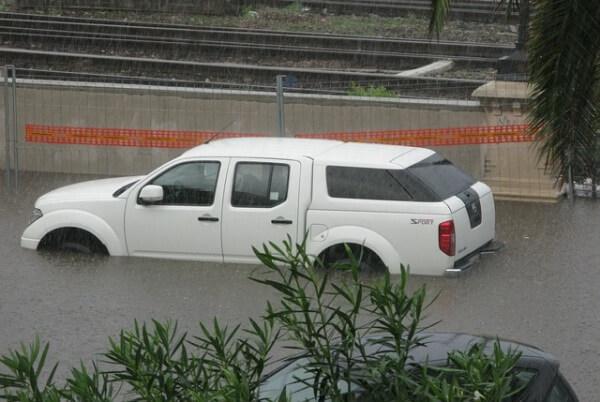 In Valencia gab es Überschwemmungen