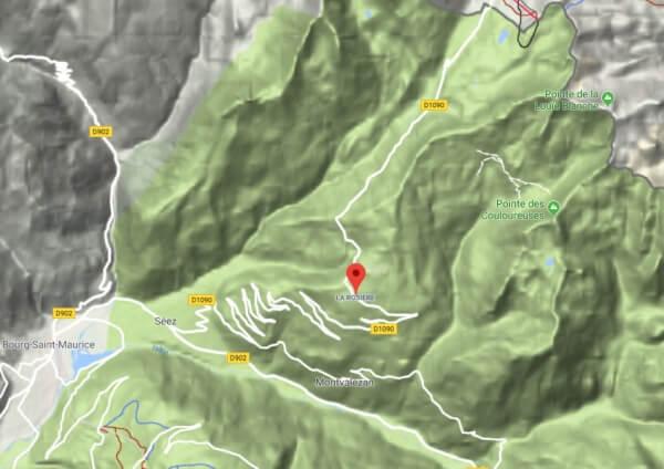 Die Lage von La Rosière im Südosten Frankreichs.
