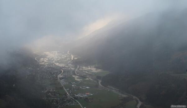 Überflutungen in Obervellach