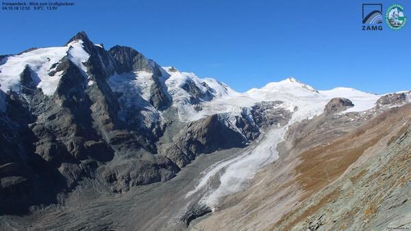 Blick auf den berühmtesten Gletscher Österreichs.