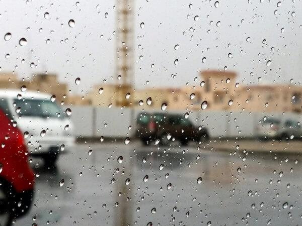 In Qatar gab es ein seltenes Gewitter