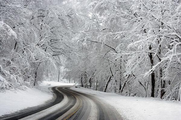 Schneefall im Westen