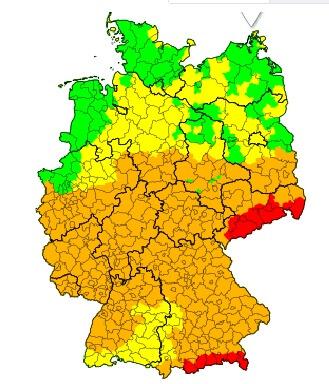 In Sachsen und am Alpenrand weht stürmischer Föhn