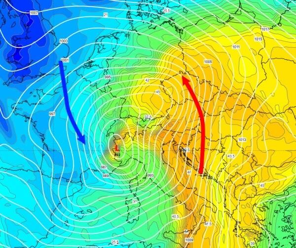 Tief VAIA sorgt für Wetterextreme in Mitteleuropa.