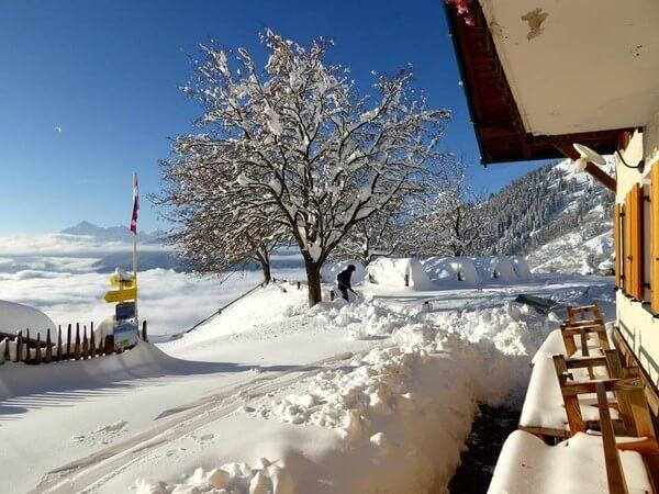 Winterimpression von der Höttinger Alm @ https://www.facebook.com/H%C3%B6ttinger-Alm-208620002506080