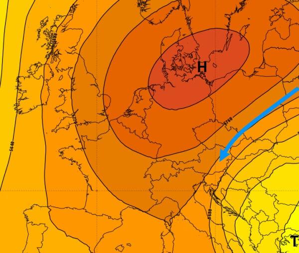 Aus Russland gelangen immer kühlere Luftmassen nach Österreich