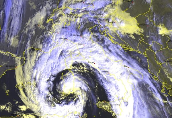 In Italien gibt es seit Wochenbeinn schwere Unwetter