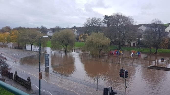 Fluten in Wales