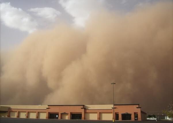 Am 21 November gab es einen großen Sandsturm in Australien