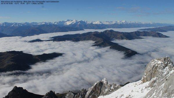 Inversionswetterlage mit Nebel und Hochnebel