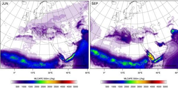 Im Herbst ist die Luftschichtung im Mittelmeer labil.