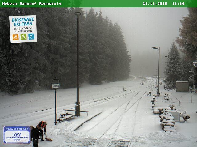 Es liegt Schnee in Thüringen
