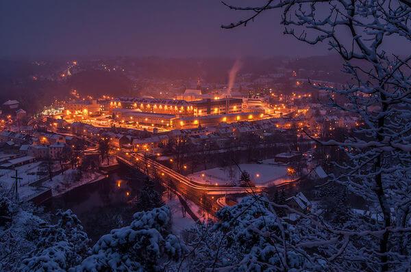 Neuschnee über Nacht