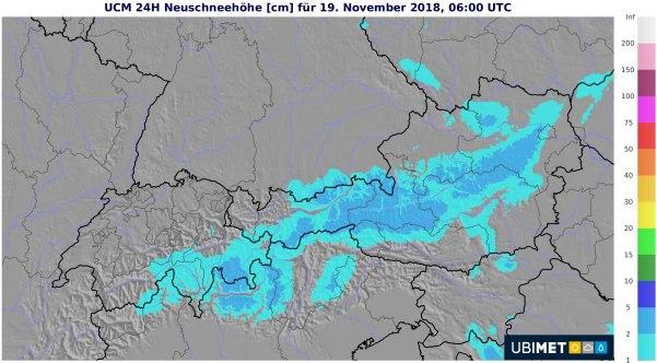 Besonders im östlichen Bergland gibt es etwas Schnee