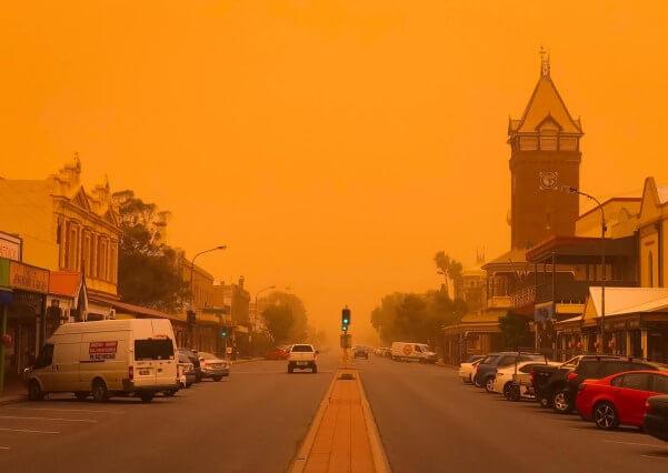 Ein ungewöhnlicher Sandsturm in NSW Australien