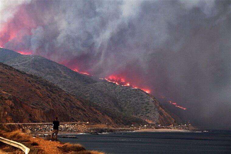 Waldbrand nahe Malibu