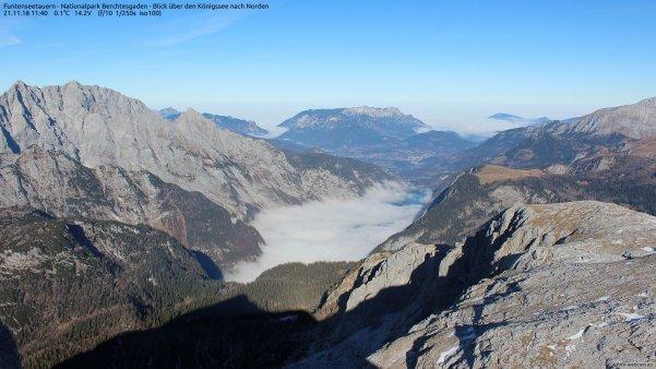 Die Alpen zeigen sich grün