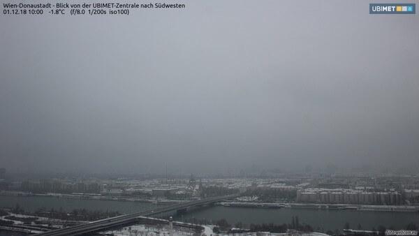Die verschneite Bundeshauptstadt.