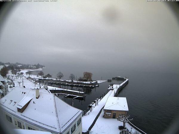 Auch der Bodensee zeigt sich von seiner winterlichen Seite