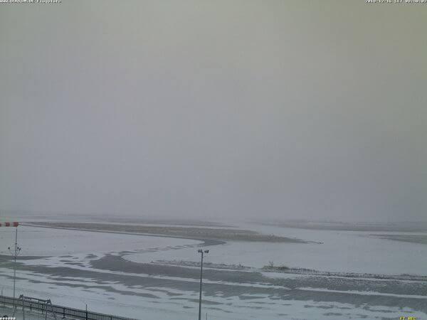 Schnee auf Borkum