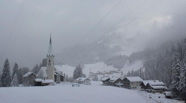 In den Alpen gibt es viel Neuschnee
