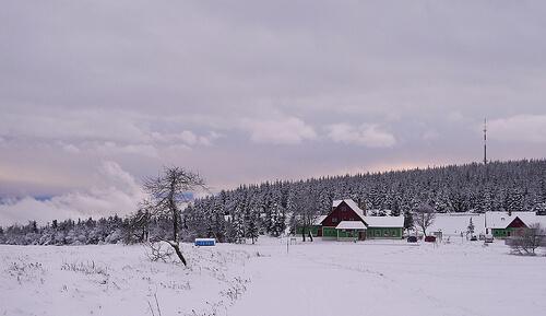 Im Erzgebirge kehrt der Winter ein