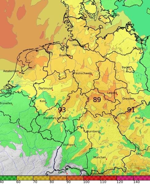 Im Nordwesten und in der Mitte gibt es Sturmböen