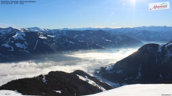 Sonnenschein und Nebel im Pinzgau