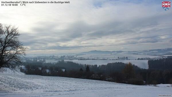 Frisch verschneit zeigt sich das südliche Niederösterreich.