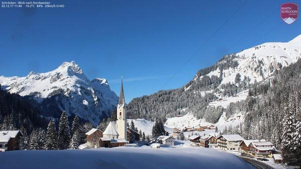 Die Arlbergregion Anfang Dezember 2017.