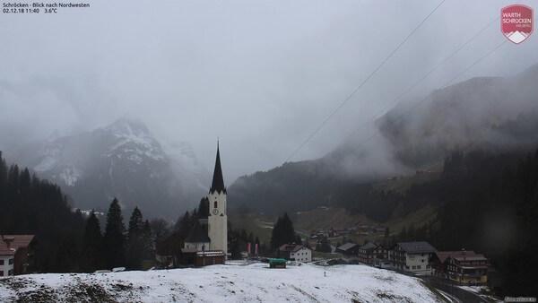 Die Arlbergregion Anfang Dezember 2018.
