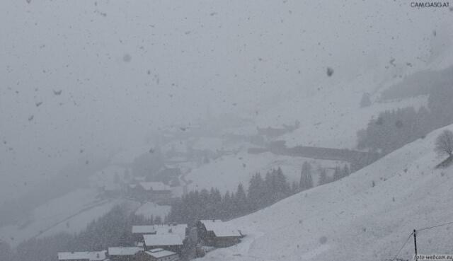 Starker Schneefall in den Alpen