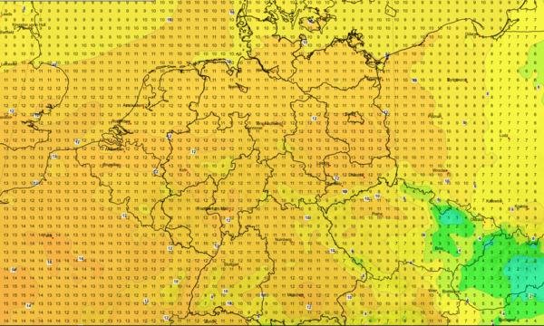 Am Montag wird es sehr mild.