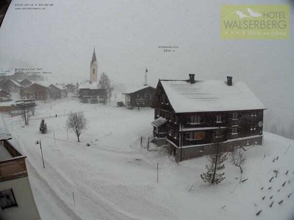 Neuschnee am Arlberg
