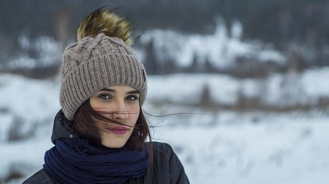 Bei starkem Wind heißt es gut anziehen im Winter