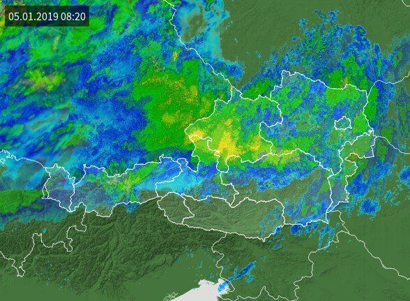 Radarbild von wetter.tv