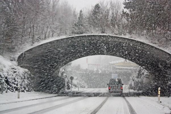 Ergiebiger Schneefall