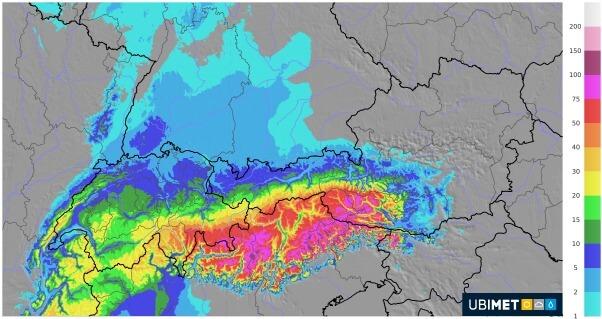Eine Südstaulage bringt Schnee in Osttirol und Oberkärnten