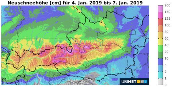Viel Schnee vor allem in Oberbayern.