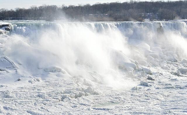Niagara Fälle im Winterkleid