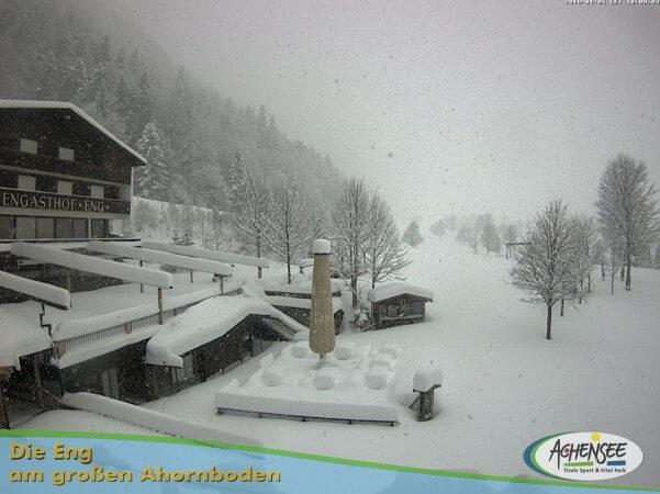 Starker schneefal in Tirol