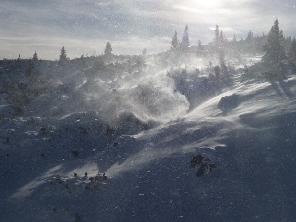 Wind und Schnee © Nikolas Zimmermann