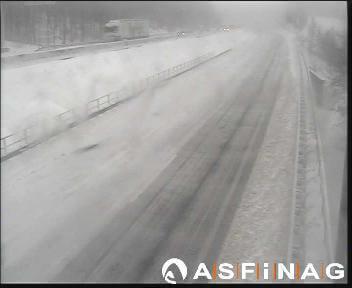 Schnee auf der A21