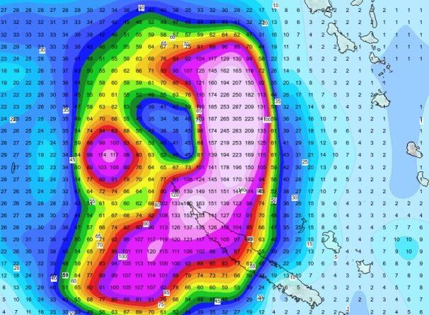 24h-Regenprognose von GFS
