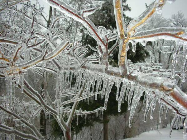 Eisregen durch Gewitter