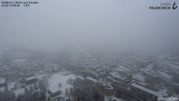 Schneefall in Feldkirch