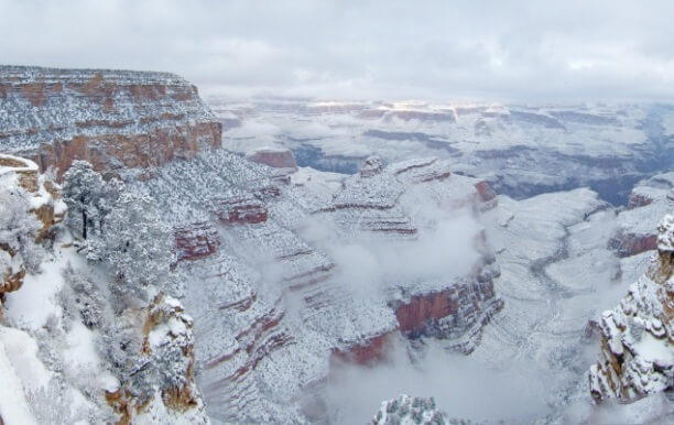 Schnee am Grand Canyon