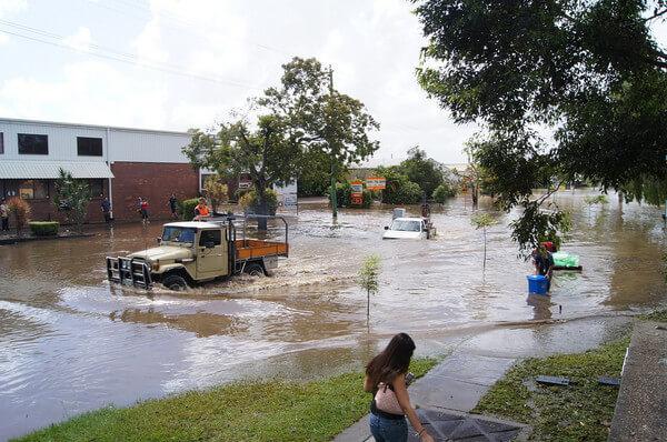 Wassermassen in Townsville.