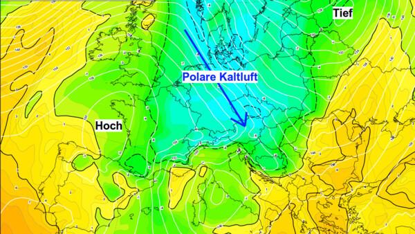Aus Nordwesten erreicht uns wieder deutlich kältere Luft.