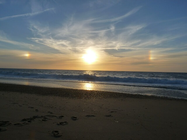 Nebensonnen am Strand
